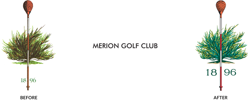 Merion Golf Club Before and After