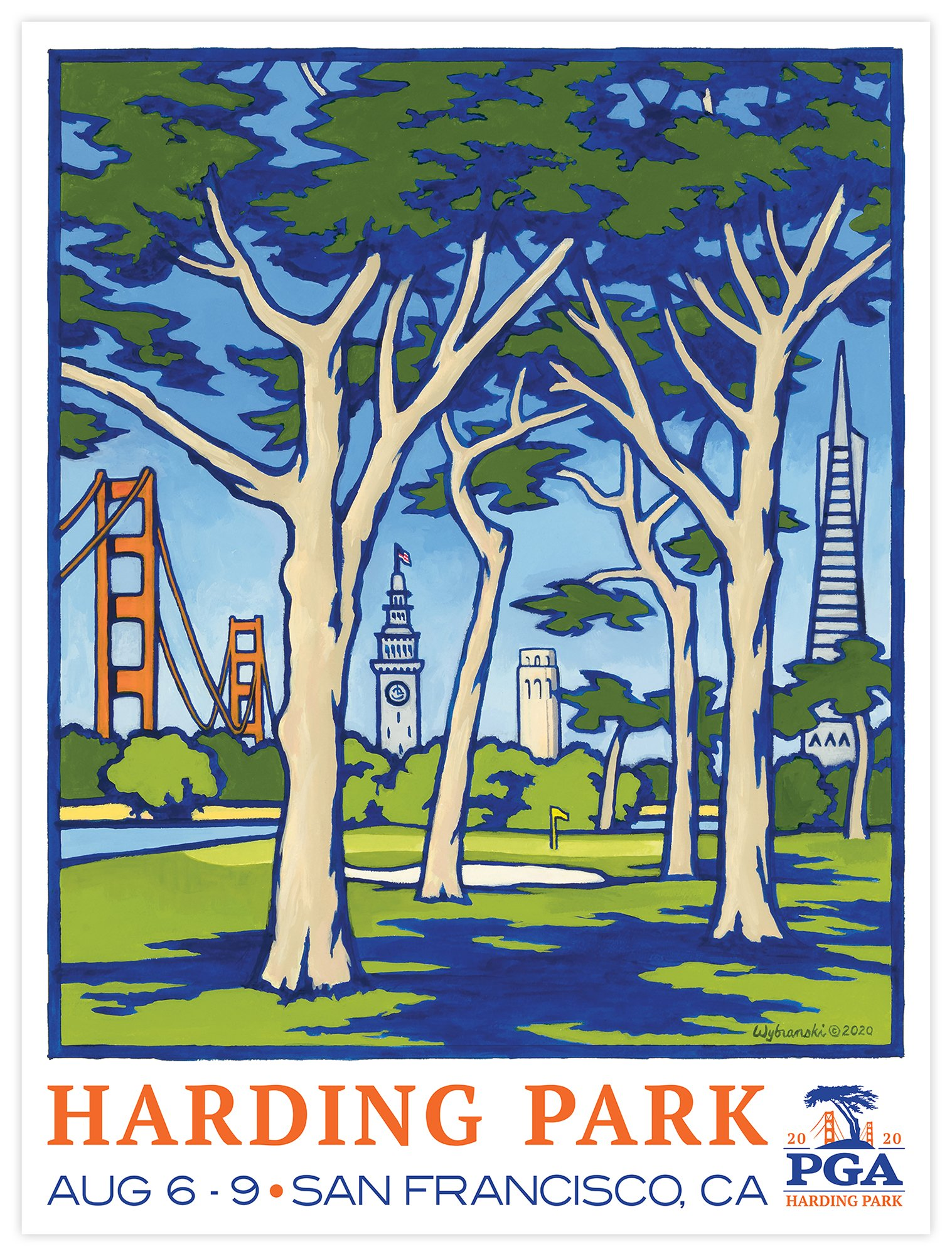 Pga Championship Lee Wybranski Print Golf Club Harding Park He also provides pointers on canvas preparation, use of mediums and paint thinners. 2020 pga championship harding park poster print wrapped canvas